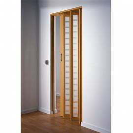 Сгъваема врата, остъклена, 86х205 см, бук
