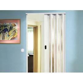 Сгъваема врата, остъклена, 83х205 см, бяла