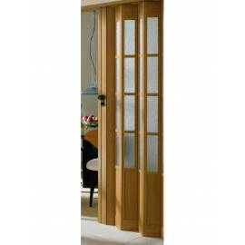 Сгъваема врата, остъклена, 86х205 см, дъб