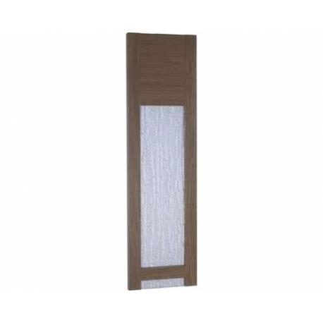 Ламел за сгъваеми врати, остъклен, светъл дъб, 14х205 см