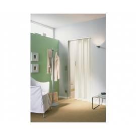 Сгъваема врата, остъклена - мат, 86х205 см, бяла