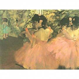 Imagén: Картина шагрен Ballerine in Rosa - Edmond Degas - 20x24 см