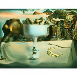 Картина Apparition...on beach - Salvador Dali, 18,5x24 см