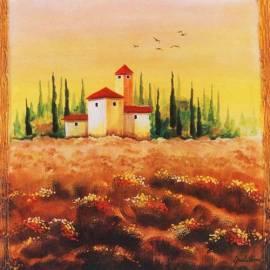Картина Paese e campi - Gianola, 70x70 см