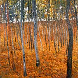 Картина Beech Grove - Gustav Klimt, 50x50 см