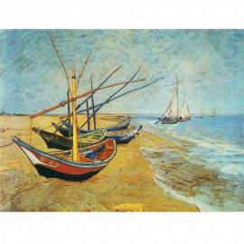 Картина Barche sulla Spiaggia - Van Gogh, 60x80 см