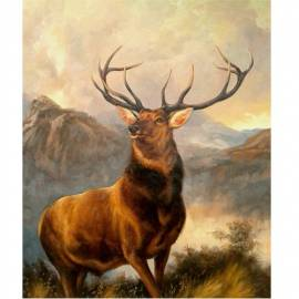 Imagén: Картина Monarch of The Glen - Edwin Henry Landseer, 40x50 см