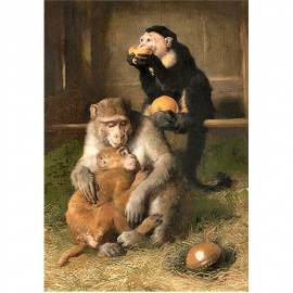 Картина Doctor's visit at the zoo - Edwin Henry Landseer, 35x50 см