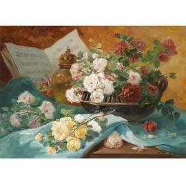 Картина Stillleben mit Rosen - Henri Eugene Cachois, 35x50см
