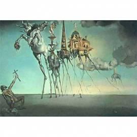 Картина La tentation de St. Antoine - Salvador Dali, 19,5x25 см