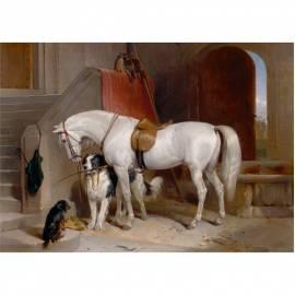 Картина Favorites the Property - Edwin Henry Landseer, 35x50 см