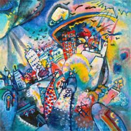 Imagén: Картина Moscow - Wassily Kandinsky, 40x40 см