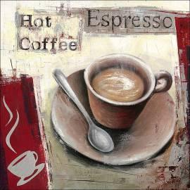 Картина Горещо кафе, 40х40 см, канава