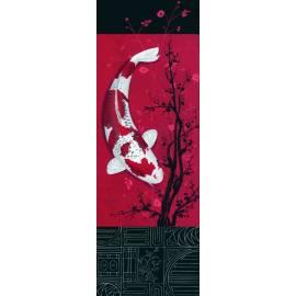 Картина Източна риба, 33x95 см