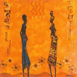 Картина Le couple - Babakar, 70x70 см
