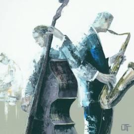 Картина Jazz Band, 14х14 см