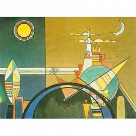 Imagén: Картина шагрен Torre di Kiev - Wassily Kandinsky - 20x26 см