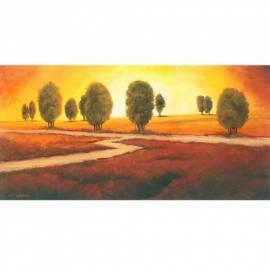 Imagén: Картина Tramonto di fuoco - Giberna, 25x50 см