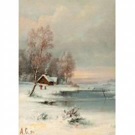 Картина Landschaft - Alexey Savrasov, 35x50 см