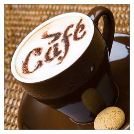 Картина Кафе, 30х30 см, канава