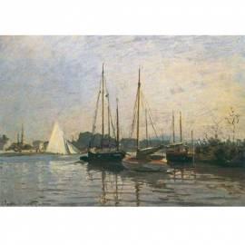 Картина Bateaux de plaisace - Claude Monet, 50x70 см