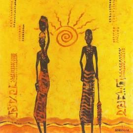 Картина Le soleil - Babakar, 70x70 см