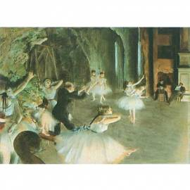 Imagén: Картина The rehearsal on stage - Edgar Degas, 18,5x26 см