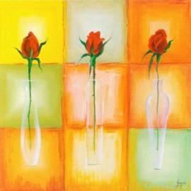 Imagén: Картина шагрен Rose vaso - Gianola - 30x30 см