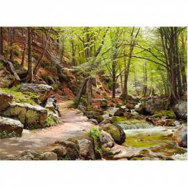 Imagén: Картина A Forest near Ilsenburg - Peder Monsted, 50x70 см