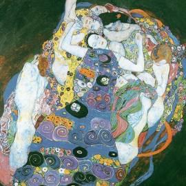Картина Le vergini - Gustav Klimt, 19x19 см