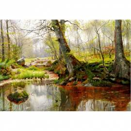 Картина A Tranquil Pond - Peder Monsted, 35x50 см