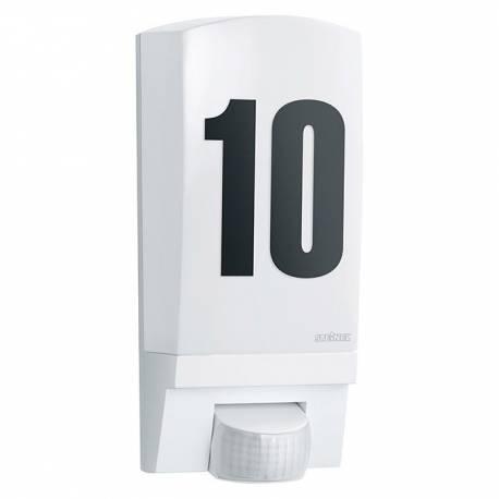Аплик с датчик/сензор за движение L 1, E27, 60 W, IP44, бял