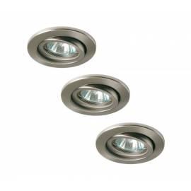 Комплект луни, въртящи, никел мат, 3х20 W