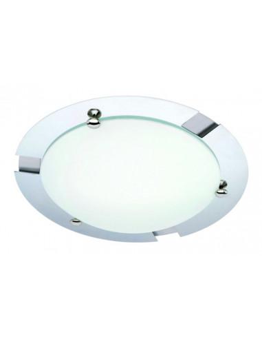 Плафон за баня 1х60W, E27, IP23, хром / стъкло