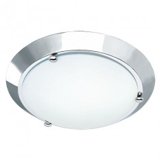 Imagén: Плафон за баня Briloner Splash, никел мат, 27 см, 60 W