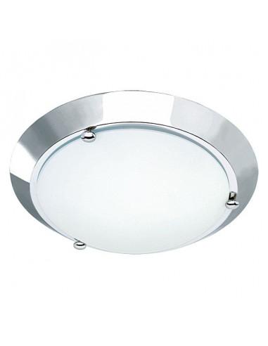 Плафон за баня, никел мат, 27 см, 60 W