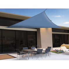 Imagén: Сенник триъгълна форма SUN-NET KIT  3.6 x 3.6 x 3.6m полиестер/син