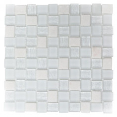 Мозайка Mix XCM R07, бяла, мат, 27,3x27,3см