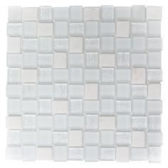 Imagén: Мозайка Crystal XCM R07 - 27,3x27,3см, бяла, мат