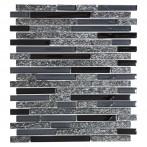 Мозайка Mix XCM MV798, сиво-черна, глазирана, 29,8x33,8 см