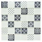 Мозайка XCM 8OP1, бяла, гланц, 30x30 см