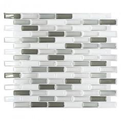 Самозалепваща мозайка SVM 24086, винил, сива, 23,6x25,5 см, 4 броя