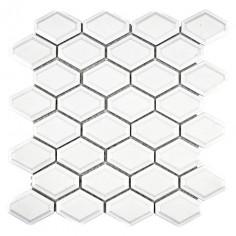 Мозайка CG MD 3WM, бяла, гланцирана, 25,2x26,5 см