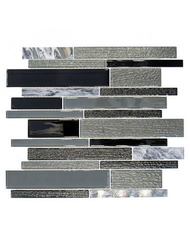 Мозайка Mix CM GV44, сиво-черна, глазирана, 28,6x30 см