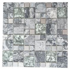 Imagén: Мозайка Crystal XCM MC609 - 30x30 см, сива, полирана