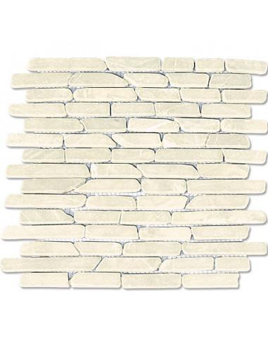 Мозайка, тухлички, бяла, 29,5х28 см