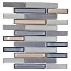 Мозайка, сребристо-бяла, гланц, 25x30 см