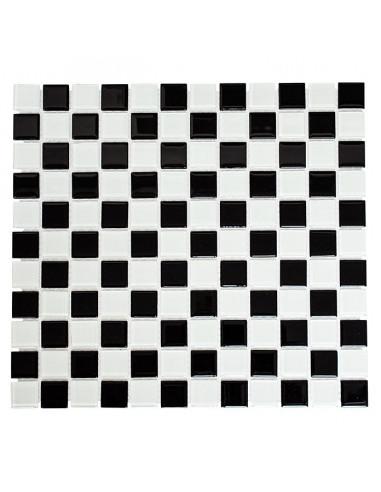 Мозайка CM 4148, стъкло, черно-бяла, 32,7x30,2 см