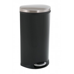 """Кош за отпадъци с педал """"SHELL"""" - 30 литра - черен EKO"""