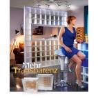 Стъклени блокчета - оребрени 19x19x8 см